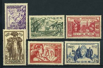 17-03-00722 - Niger 1937 Yv.  57-62 MH 100% Exposition Paris