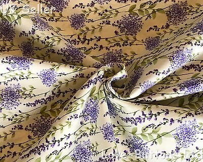 Rose & Hubble Ivory Freesia Floral Fabric 100% Cotton 112Cm Wide Per Metre
