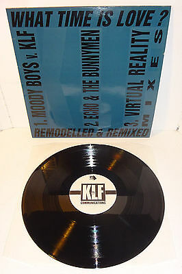 """THE KLF WHAT TIME IS LOVE? REMODELLED & REMIXED 1990 UK 12"""" original press, P/S"""