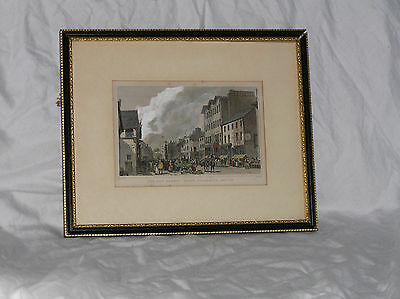 Two Antique Engraving Prints of Lancashire