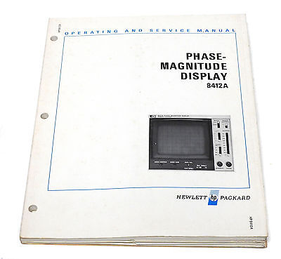 Manual Hewlett Packard HP8412A / HP 8412 A Display Plugin, Operation & Service