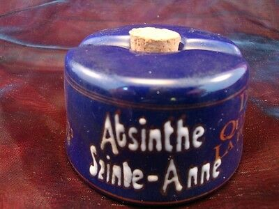 Inkwell Advertising Absinthe Bar Office Porcelain Ceramic Ceramic