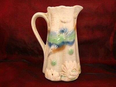 Pitcher Pitcher Kingfisher Bird French Style Porcelain Barbotine