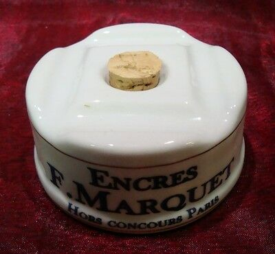 Inkwell Advertising Office French Style Porcelain Enamels Ceramic