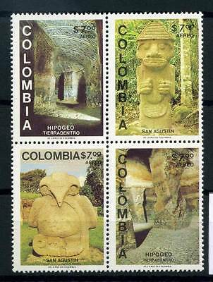 17-03-05890 - Colombia 1981 Mi.  1466-1469 MNH 100% Archeology Culture.