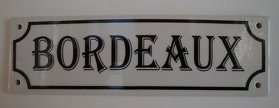 Door Plate Advertising Wine Bordeaux Bar French Style Porcelain