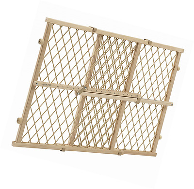 Baby Gate Safety Fence Evenflo Position and Lock Wood Child Proof Stairs Doorway