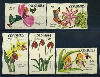 17-03-05747 - Colombia 1967 Mi.  1098-1102 MNH 100% Flowers Nature Medellin