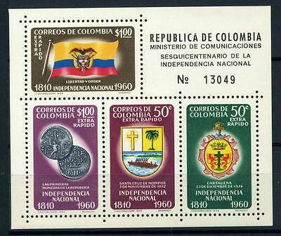 17-03-05673 - Colombia 1960 Mi.  Bl. 19 SS 100% MNH Independence