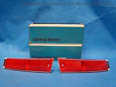 NOS 1974 Pontiac Catalina Bonneville Rear Side Light Lamp Lens GM 912065 912066