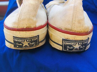 "VTG Converse All Star Chuck Taylor Low Tops ""BLUE LABEL"" Make In USA."