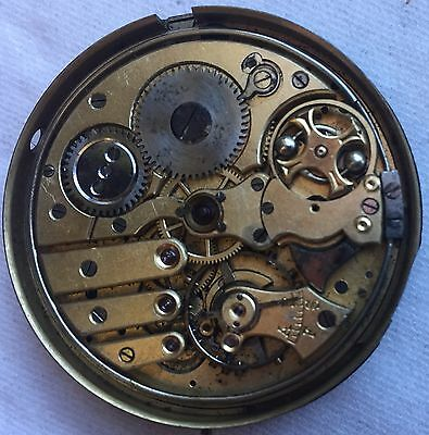 Repeater Pocket watch Movement 45 mm. in diameter for parts