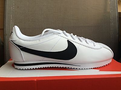 New Youth Big Kids Nike Cortez (GS) Running Shoes White/Black 749482 102 Sz 2Y