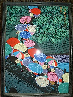 Original Framed Painting Oriental Japanese Chinese
