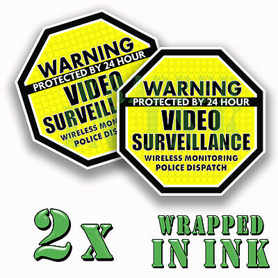 5-Pack 36x12 Victorian Frame Window Cling CGSignLab 24 Hour Video Surveillance