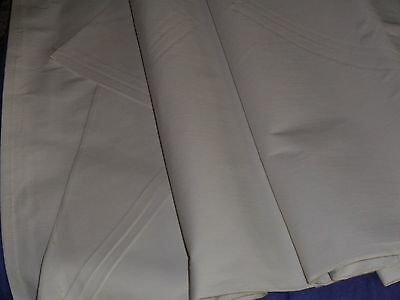 "VINTAGE FRENCH FLAT SHEET METIS LINEN AND COTTON.UNUSED.86""x120""."