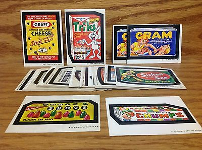 1974 Topps Wacky Packages 5th Series 5 Complete Set 32/32  w/ Both Cram Die Cuts
