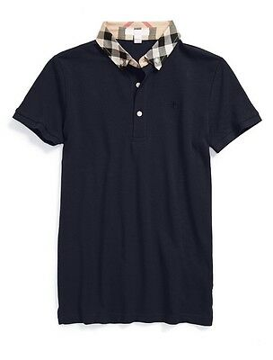 NWOT Burberry 'William' Cotton Polo Little Boys Size 6Y $80 Navy