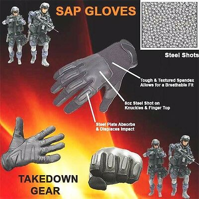 Police Force Tactical SAP Gloves-Large, Genuine Leather, Breathable Spandex