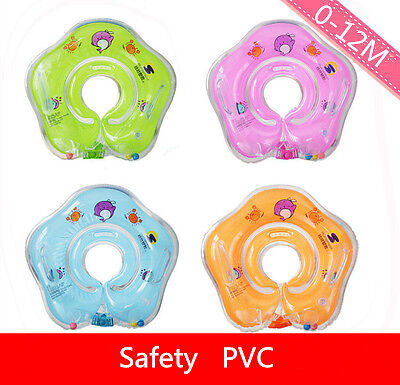 New Inflatable Swimming Swim Ring Safety Circle Newborn Infant Baby Neck Float