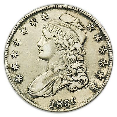 1836 Capped Bust Half Dollar, Large, Nice, Silver Coin [3125.96]
