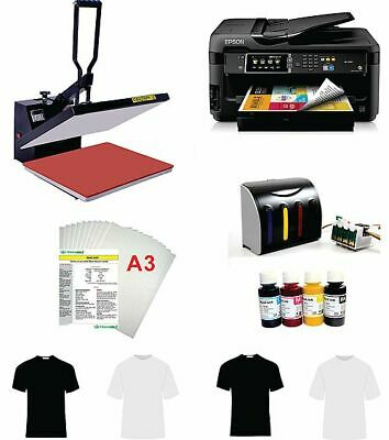 16x20 T-shirt Heat Press  Machine Epson Printer 1430 CISS KIT
