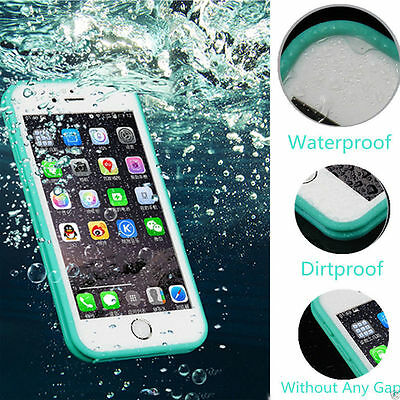 360°Full Waterproof life proof Soft TPU Case Cover For iPhone 5 6 7 8 + X