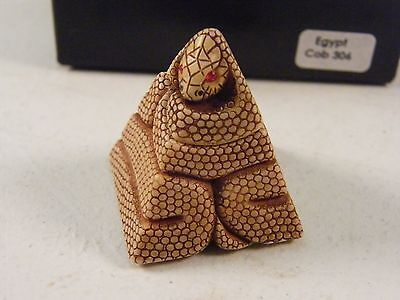 Adam Binder Editiona Egyptian Cobra Abe Netsuke's #306 Coa Mib England