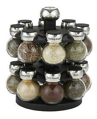 Martha Stewart 17-Piece Carousel Spice Rack 16 Spices and Herbs New