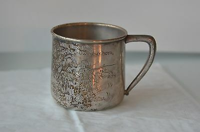 SILVER PLATED SHAVING CUP 19C  Silverplate