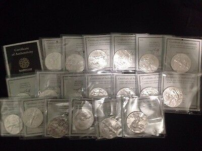 Lot of (20) APMEX 1oz Silver mercury dimes