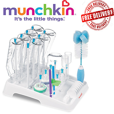 Munchkin Deluxe Drying Rack For Bottles, Teats, Cups and Accessories NEW