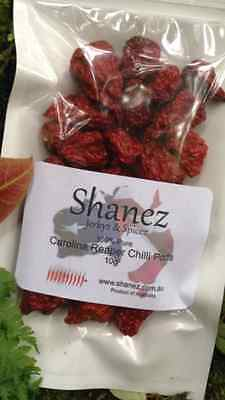 Carolina Reaper, 5g 10g 25g 50g 100g  Powder, Pods, Flakes Shanez Hottest Chilli