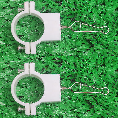 Two Flag Pole Clip Flag Snap Flag Hook Flag Holder for 1-1/4 Inch  Pole -NO FLAG