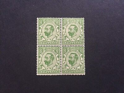 ASstamps Great Britain 1911 King George V Block Of 4 MNH SC#151 CV$25+
