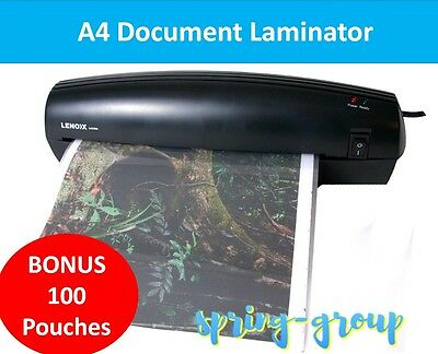 A4 Document Laminator Thermal Hot Laminating Machine Home Office Roller with Pou