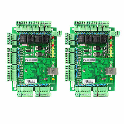 2X TCP/IP Network Entry Access Control Board Panel Controller for 4 Door&Reader