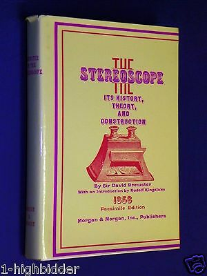 1856 Stereoscope History Theory & Construction Brewster Facsimile Stereoviewer
