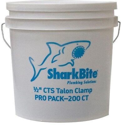 SharkBite Pipe Talon Clamp 1/2 in. PEX (200-Pack) Contractor Bucket