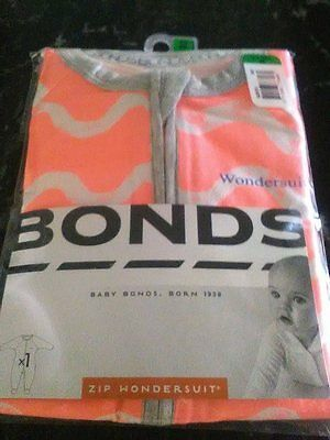 Girls Bonds Zip Wondersuit ....BRAND NEW WITH TAGS..... Size 000