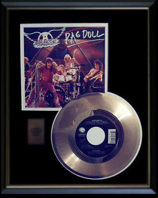 Aerosmith  Rag Doll Rare Gold Record Disc & 45 Rpm Sleeve
