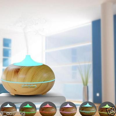 300ml Wood Aroma Humidifier Oil Diffuser Air Purifier SPAFor Office Home Bedroom