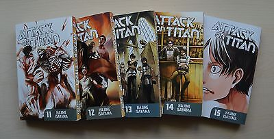 Attack on Titan Volumes 11-15 Manga set (English vers) EXCELLENT condition