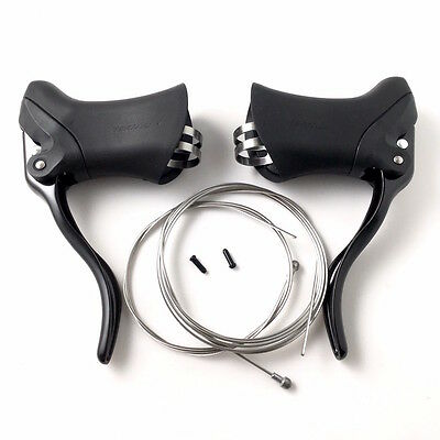 Tektro RL340 Road Bicycle Aero Brake Levers Right & Left with 800mm/2000mm cable