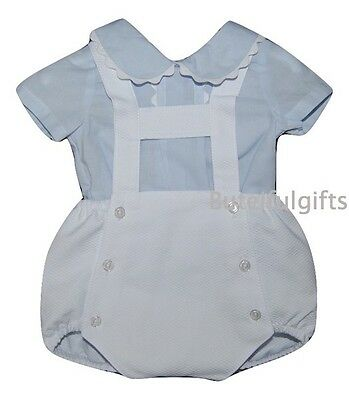 Baby Boys Spanish 2 Piece Shirt & H-Bar Romper Set/Outfit Newborn 0-24 Months
