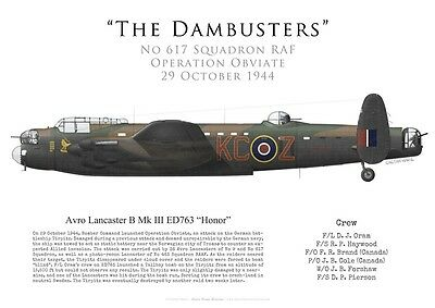 Print Avro Lancaster, F/L Oram, No 617 Sqn, Operation Obviate, 1944 (by G.Marie)