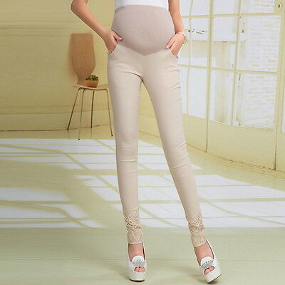 Full Ankle Length Pregnancy Maternity Pants Maternity Trousers For Pregnant UI