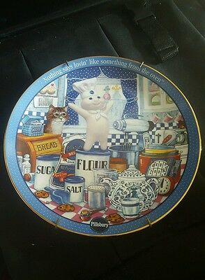 """Pillsbury Doughboy Plate,  """"nothing Says Lovin' Like Something From The Oven"""""""