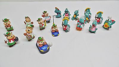Kinder Surprise Egg Toy Lot Bears + Dinosaurs