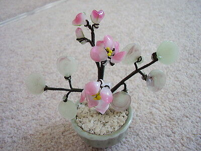 Chinese bonsai glass flower tree, with  flowers,pink